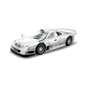 Scale Silver AL Mercedes Benz CLK GTR (Street Version) Toys & Games