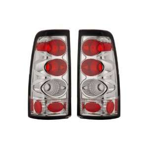 99 02 Chevy Silverado Chrome Tail Lights Automotive