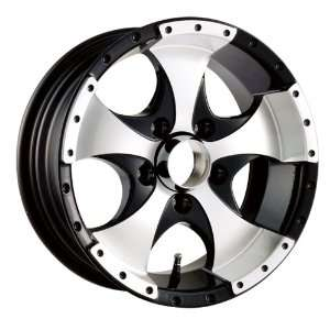 14x6 Trailer Style 136 (Black w/ Machined Face & Lip) Wheels/Rims