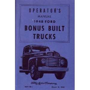 1948 FORD TRUCK Full Line Owners Manual User Guide