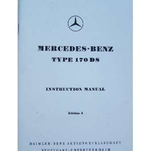 1952 mercedes benz 170 ds owners manual factory reprint