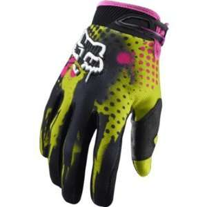 2011 Fox Racing 360 Riot Gloves   Acid Green   11 (X Large
