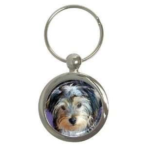 Yorkshire Terrier Puppy Dog 3 Round Key Chain AA0654