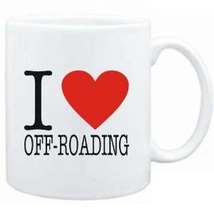 Mug White  I LOVE Off Roading  CLASSIC Sports Sports