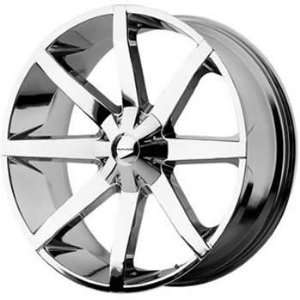 KMC KM651 20x8.5 Chrome Wheel / Rim 5x4.5 & 5x4.75 with a 10mm Offset