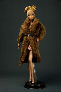 LD1221 Brown Fashion Faux Fur Long Coat for Barbie FR