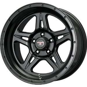 Level 8 Strike 5 Matte Black Wheel (17x9/5x127mm) Automotive