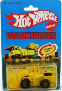 HOT WHEELS WORKHORSES CAT WHEEL LOADER #1173 NRFP 1979