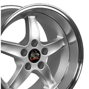 Cobra R Deep Dish Style Wheel with Machined Lip Fits Mustang (R