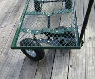 Flat bed Utility, Garden, Nursery, Landscaping Steel Cart Wagon