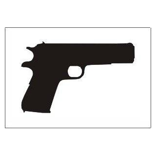 1911 Gun silhouette vinyl decal sticker, White