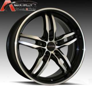 509 BLACK MACHINED WHEEL FIT AUDI A4 B4 B5 B6 A5 A6 A8 RS4 VW R32 GTI