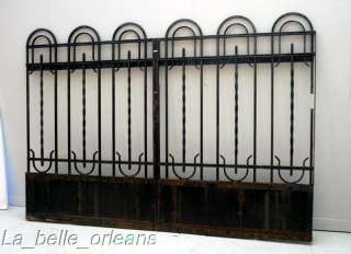 FRENCH ART DECO WROUGHT IRON GATE AND FENCING. WOW