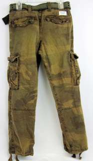 ABERCROMBIE & FITCH CAMO MENS LONG CARGO PANTS 30W/30L