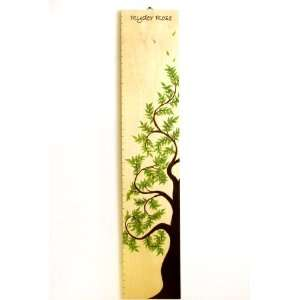 Personalized Birch Tree of Life Wooden Growth Height Chart Baby