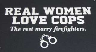 Police Tshirt Real Women Love Cops Americas Finest 911 Law