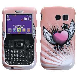 Samsung R360 R 360 Freeform II 2 White with Pink Flying Love Hearts