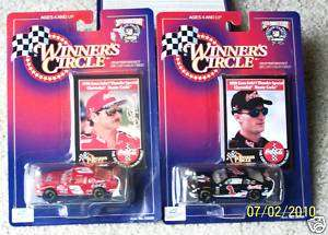 NASCAR WINNERS CIRCLE DALE EARNHARDT #1 & #3 COCA COLA