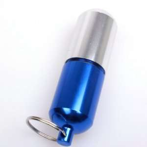 BestDealUSA Stylish Blue Aluminum Pill Box Case Bottle