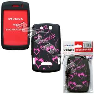 Blackberry 9500, 9530 (Storm) Laser Love Poison (Hot Pink/Black) Skin