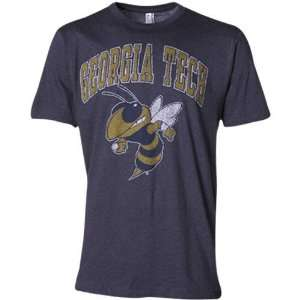 Georgia Tech Yellow Jackets Heather Slate Blue Big Arch n