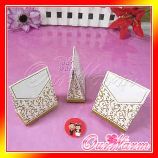 50 Gold Wedding Party Candy Bombonier Gift Favor Boxes
