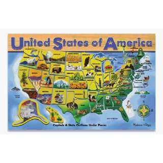 United States Of America Wooden Jigsaw Puzzle Toys
