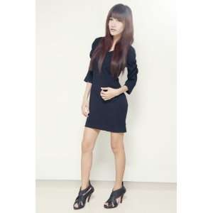 Black Dress (Long sleeves,Neat Cutting, Business Look