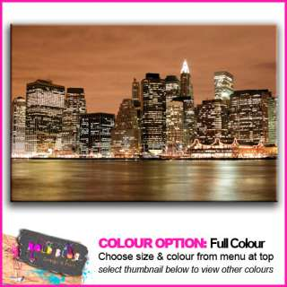PREMIUM NEW New York City Skyline   10 COLOURS / SIZES