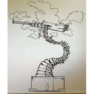 Vinyl Wall Decal Sticker Abstract Bonsai Machine Gun