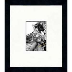 Bettie Page   Leopard Bikini   Framed 5 x 7 Photograph