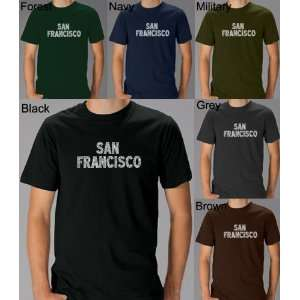Mens GREEN San Francisco Shirt Medium   Created using San Franciscos