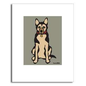 Dog Print. German Shepherd (Standing) by Marc Tetro (11 x 14 inches
