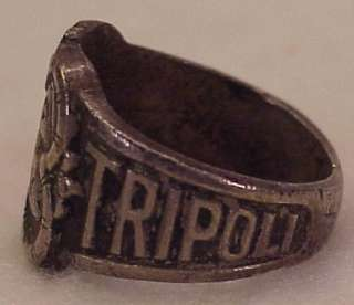 Masonic Shrine Tripoli Temple Milwaukee WI Metal Souvenir Ring Silver