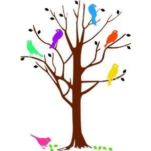 Removable Wall Decals  Birds in a Tree