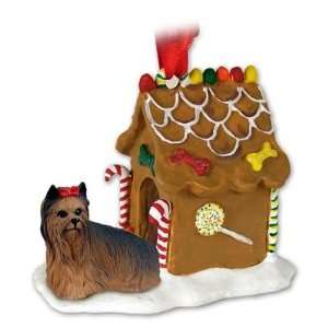 Yorkie Yorkshire Terrier Gingerbread House Christmas