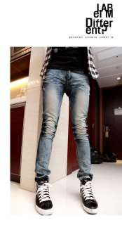 New Fashion Mens Stylish Wash Skinny Jeans Trousers Pants 7 size D265