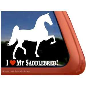 MY SADDLEBRED ~ Saddlebred Horse Trailer Vinyl Window Decal Sticker