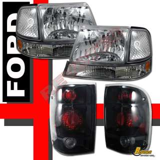 98 99 00 FORD RANGER HEADLIGHTS & PARKING BUMPER SIGNAL & TAIL LIGHTS