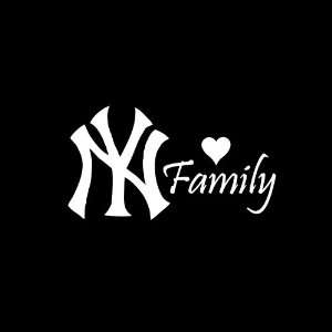 New Yankees Family Car Window Decal Sticker White 6