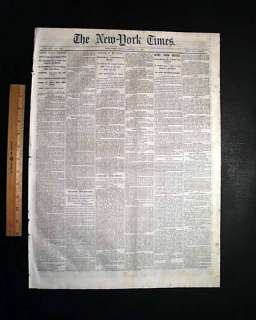 SMITHVILLE SOUTHPORT NC 1865 Civil War Newspaper FISHER