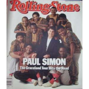 Stone Magazine Back Issue Paul Simon July 2 1987