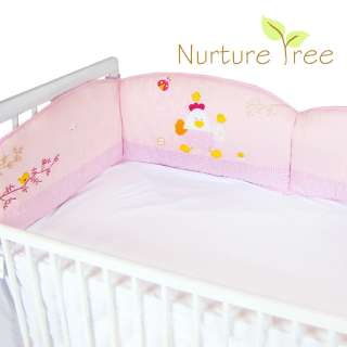US New Baby Boys Girls Kids Infant Pink Blue Crib Bedding Cot Bumper