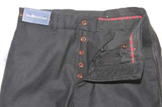 NWT $298 POLO RALPH LAUREN MEN BLACK UNHEMMED WOOL DRESS PANTS 30 32