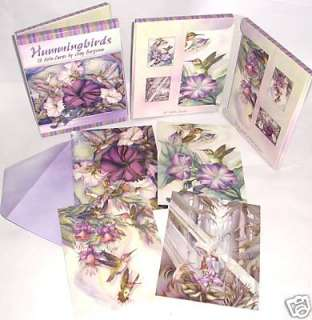 12 Jody Bergsma Hummingbirds Leanin Tree Note Cards USA