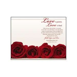 Wedding Programs Love Is Patient, Love Is Kind   945
