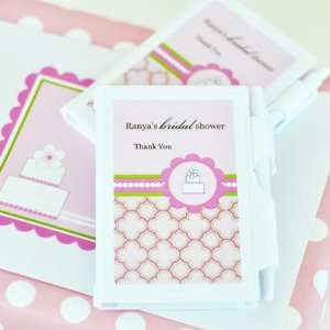 Personalized Pink Cake Notebook Favors Health & Personal