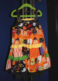 EUC custom resell Halloween dress boutique girls 5 6