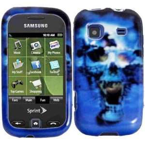 For Sprint Samsung Replenish M580 Accessory   Blue Skull