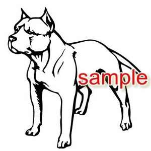 PITBULL DOG WHITE VINYL DECAL STICKER
